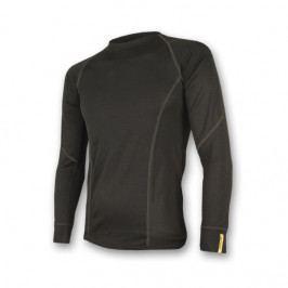 Pánské funkční triko Sensor Merino Wool Active dl.r. Velikost: M / Barva: černá