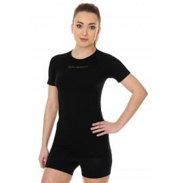 Brubeck womens base layer short sleeve shirt black S