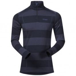 Bergans Merino Fjellrapp Half Zip Dk Navy/NightBlue Striped XL