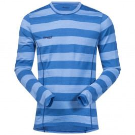 Bergans Merino Soleie Shirt MidBlue/Summerblue Striped XL