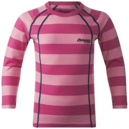 Bergans Dětské triko Merino Fjellrapp Kids Shirt Lollipop Striped 104