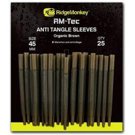 RidgeMonkey RM-Tec Anti Tangle Sleeves 45mm Hnědý 25ks