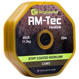 RidgeMonkey RM-Tec Stiff Coated Hooklink 35lb 20m Camo