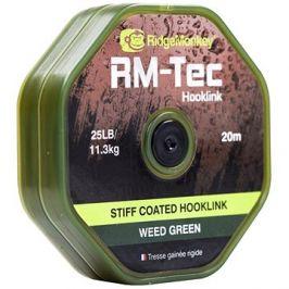 RidgeMonkey RM-Tec Stiff Coated Hooklink 35lb 20m Zelená