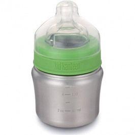 Klean Kanteen Baby Bottle w/Slow Flow Nipple - brushed stainless 148 ml