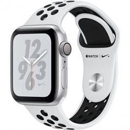 Apple Watch Series 4 Nike+ 40mm Stříbrný hliník s platinovým/černým sportovním řemínkem Nike