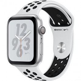 Apple Watch Series 4 Nike+ 44mm Stříbrný hliník s platinovým/černým sportovním řemínkem