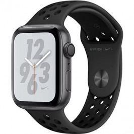 Apple Watch Series 4 Nike+ 44mm Vesmírně černý hliník s antracitovým/černým sportovním řemínkem